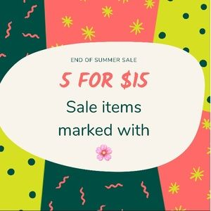Other - All items marked with 🌸 are 5/$15!!!